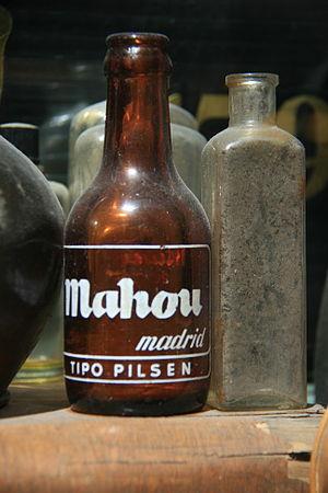 Mahou (beer) - A bottle of Mahou beer