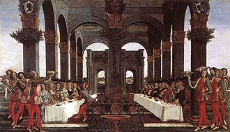 Pucci family - Nastagio degli Onesti, fourth panel, Sandro Botticelli