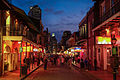 Bourbon Street wakes up at dusk (15798772547).jpg