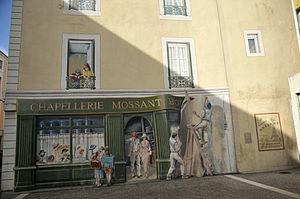 Bourg-de-Péage - A trompe-l'œil in honour of Charles Mossant