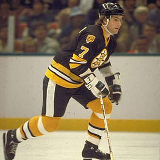 Ray Bourque - Bourque with the Bruins during his early NHL career in 1981