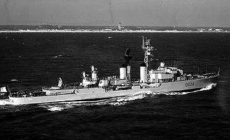 """T 47-class destroyer - Bouvet (D624) after her """"Tartar"""" refit"""