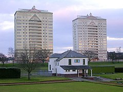 Bowling Club and Tower Blocks, Coatbridge - geograph.org.uk - 127547.jpg
