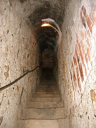 Secret passage - A secret passage in Bran Castle, a 14th-century fortress in Romania.