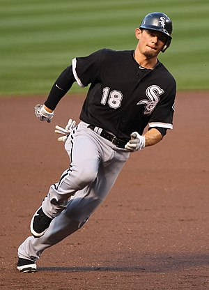 Washington Huskies baseball - Brent Lillibridge, shown while playing for Major League Baseball's Chicago White Sox in 2011.