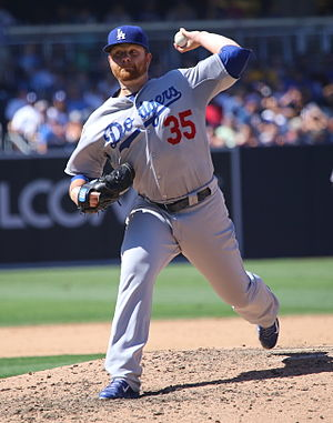 Brett Anderson (baseball) - Anderson with the Los Angeles Dodgers in 2015