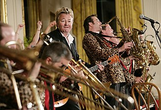 Brian Setzer - The Brian Setzer Orchestra performing in the White House during a visit from Japanese Prime Minister Junichiro Koizumi, June 29, 2006