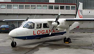 2005 Loganair Islander accident - Britten Norman Islander in Loganair livery.