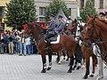 Brno, náměstí Svobody - mezinárodní policejní mistrovství ČR v jízdě na koni - příjezd a defilé soutěžních ekvip obr17.jpg