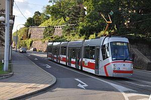 Škoda Elektra - Image: Brno tramvaj na křižovatce Husovy a Nádražní2014