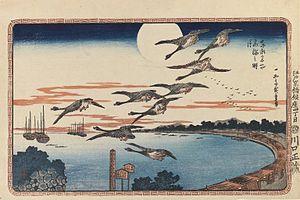 Takanawa - Full Moon at Takanawa, by Hiroshige