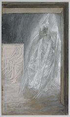 L'ange assis sur la pierre du tombeau