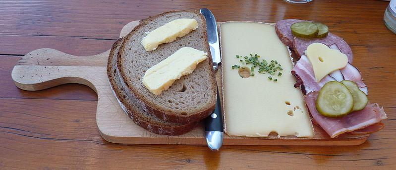 Brotzeit mit allem. From an eating tour of Austria