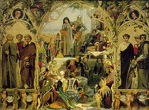 English poetry - The Seeds and Fruits of English Poetry, Ford Madox Brown.