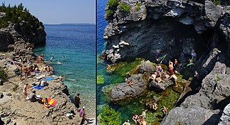Bruce Peninsula National Park - Image: Bruce Peninsula Natl Park Beach and Grotto