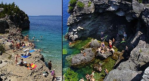 Bruce Peninsula Natl Park - Beach and Grotto