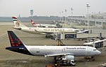 Brussels Airport Airbus A320 A330 Boeing 737.JPG