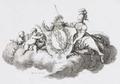 Buddenbrock-Wappen Minerva und zwei Putti 1771.png