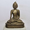 Buddha in Bhumisparsha Mudra - Bronze - Circa 18th Century CE - ACCN 87-221 - Government Museum - Mathura 2013-02-24 6575.JPG