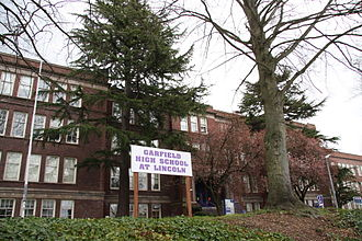Garfield High School (Seattle) - Garfield High School occupying the grounds of the former Lincoln High School, Wallingford, Washington.
