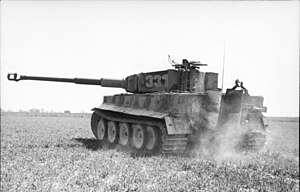 German heavy tank battalion - Tiger I in France.