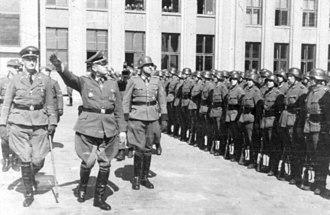 Ordnungspolizei - Ordnungspolizei in Minsk, Reichskommissariat Ostland, Weißruthenien, 1943