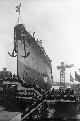 German cruiser Köln - Köln at her launching on 23 May 1928
