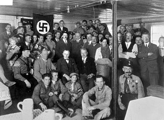 Nazi Party - Hitler with Nazi Party members in 1930