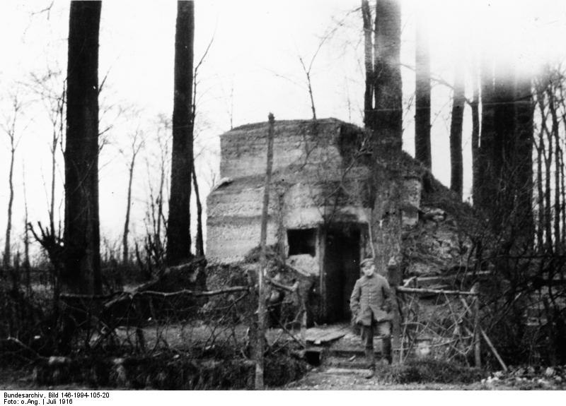 Bundesarchiv Bild 146-1994-105-20, Frankreich, Fromelles, Unterstand