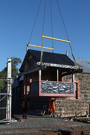 Bundoran Junction railway station - One of the signal cabins from Bundoran Junction in preservation at the DCDR.