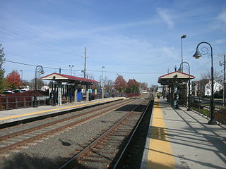 Burlington South station train station in Burlington, New Jersey