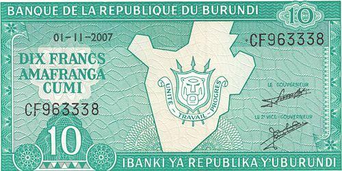 Burundi franc