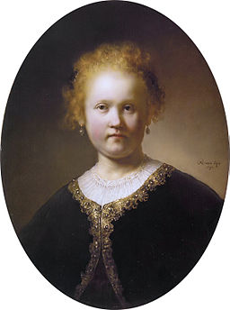 Bust of a young woman, by Rembrandt van Rijn