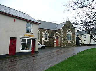 Buckland Brewer - Butchers shop and Methodist church Two key elements in village life in Buckland Brewer