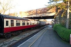 Butterley railway station, Derbyshire, England -train-19Jan2014 (2).jpg