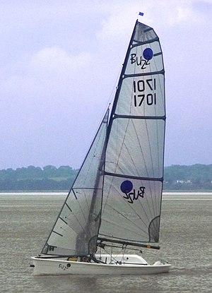 Buzz (dinghy) - A Buzz (singled-crewed).