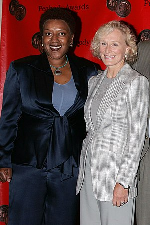 C. C. H. Pounder - C. C. H. Pounder and Glenn Close at the Peabody Awards 2006.