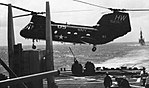 CH-46D Sea Knight of HC-6 delivers cargo to USS Mississippi (CGN-40), circa in 1984.jpg