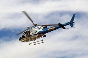 A Helicopter from the California Highway Patrol.