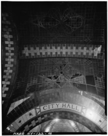 CITY HALL STATION. SKYLIGHT AND ENTRANCE TO CONTROL ROOM. - Interborough Rapid Transit Subway (Original Line), New York, New York County, NY HAER NY,31-NEYO,86-48.tif