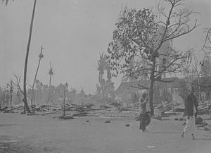 Sibolga - Devastation after the fire (ca. 1890-1920)