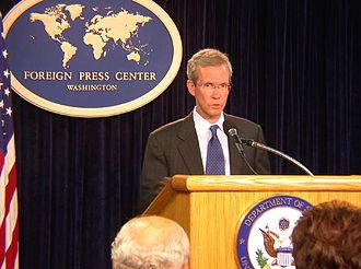 "Morocco–United States relations - Photo of former Assistant Secretary of State, David Welch (2005–2008) who in 2007 expressed strong support for Morocco and its autonomy plan in the conflict over Western Sahara, calling the plan a ""serious and credible"" solution."