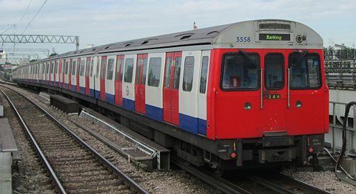C Stock leaving West Ham, July 2013