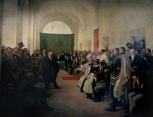 Primera Junta - The Open cabildo of 22 May decided to replace the viceroy with a Junta.