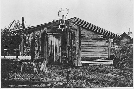 Cabin of Rex Beach, Rampart, Alaska. Same source as photo #966.