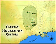 Caddoan Mississippian culture map HRoe 2010