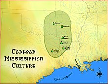 A map of where the Caddo live.