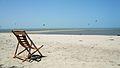 Cadeira espreguiçadeira contemplando a beleza da praia..jpg