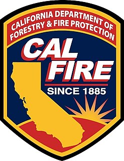 California Department of Forestry and Fire Protection agency in California