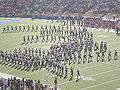 Cal Band performing pregame at 2008 Big Game 15.JPG